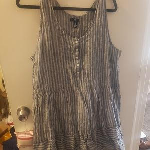 Striped chambry dress